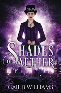 Cover of Shades of Aether, starring Amethyst Forester - your new steampunk heroine.