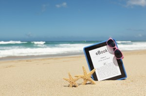 Beach and eBook