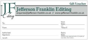 A Jefferson Franklin Editing Gift Voucher