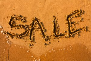 Sale written in the sand
